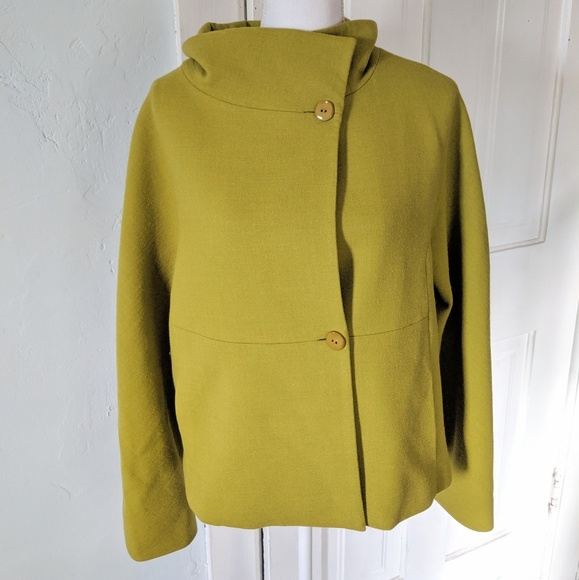 Worth Jackets & Blazers - WORTH Women's Medium Chartreuse Wool Blend Jacket